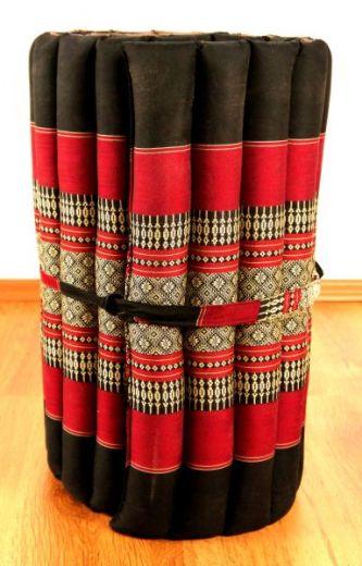 Kapok Rollmatte  *schwarz / rot*  Gr. S