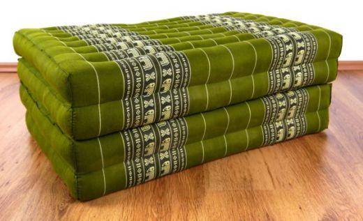 Kapok Klappmatratze, Gästematratze  *smaragtgrün - Elefanten*