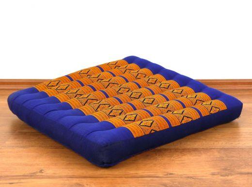 Sitzkissen, Bodenkissen *blau - gelb*