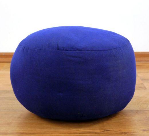 Einfarbiges Zafukissen, Sitzkissen  *blau*  klein