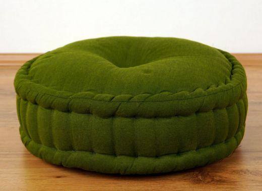 Einfarbiges Zafukissen, Sitzkissen  *grün*