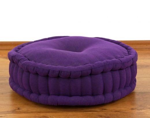 Einfarbiges Zafukissen, Sitzkissen  *lila*