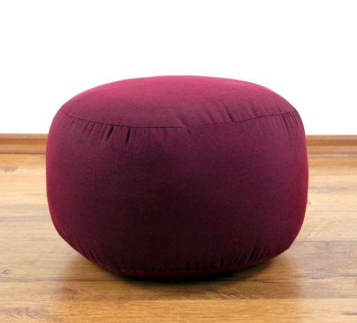 Einfarbiges Zafukissen, Sitzkissen  *rot*  klein