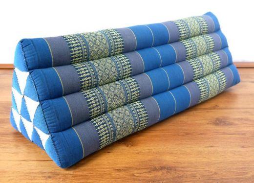 Kapok Dreieckskissen, Rückenlehne  *hellblau*   extrabreit