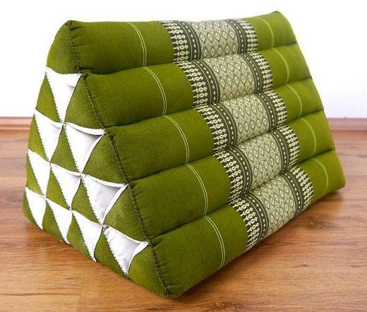 Kapok Dreieckskissen, Rückenlehne  *grün*  extrahoch