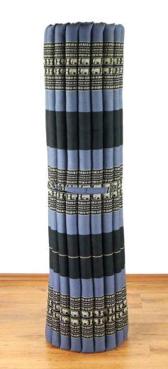 Kapok Rollmatte, Liegematte *blau - Elefanten* Gr. XL