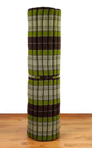 Kapok Rollmatte, Liegematte *braun - grün* Gr. XL