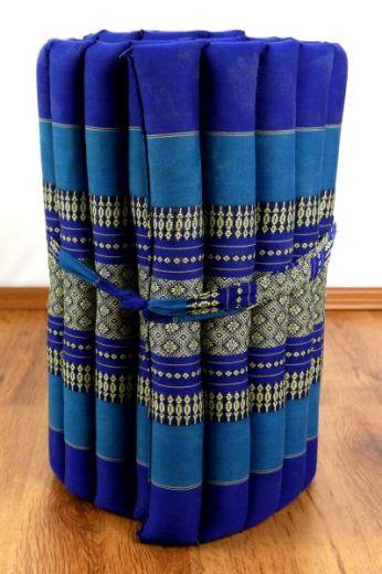 Kapok Rollmatte, Liegematte  *blau*  Gr. S