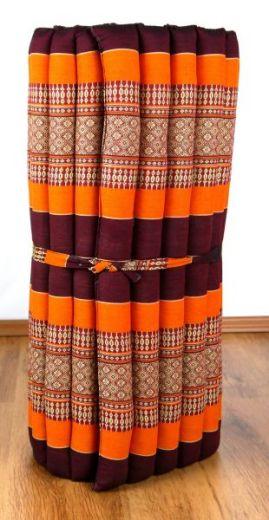 Kapok Rollmatte, Liegematte  *orange*  Gr. M