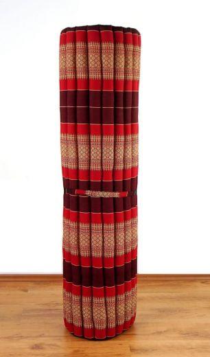 Kapok Rollmatte, Liegematte *rubinrot* Gr. XL