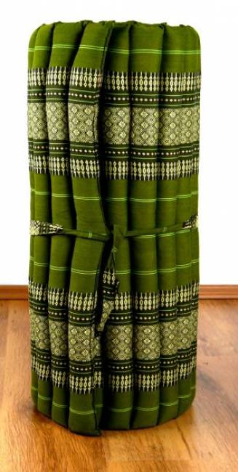 Kapok Rollmatte, Liegematte  *grün*  Gr. M