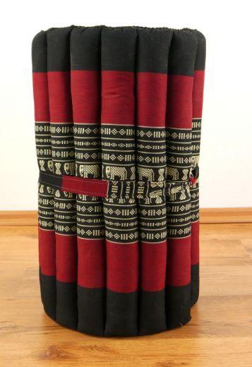 Kapok Rollmatte  *schwarz / Elefanten*  Gr. S