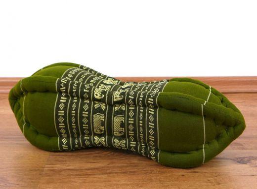 Nackenkissen, Papayakissen  *smaragtgrün - Elefanten*