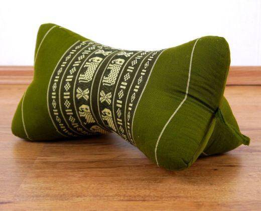 Nackenkissen, Sternkissen  *smaragtgrün - Elefanten*