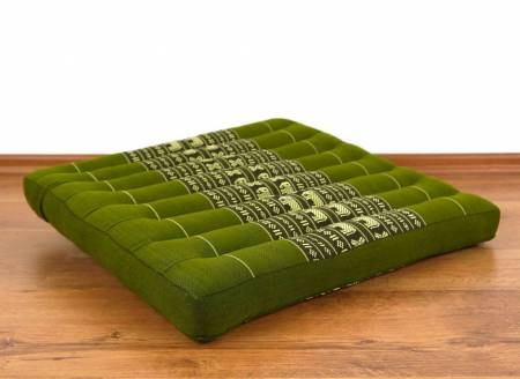 Sitzkissen, Bodenkissen *smaragtgrün - Elefanten*