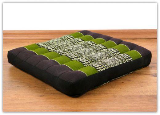 Sitzkissen, Stuhlkissen  *braun - grün*