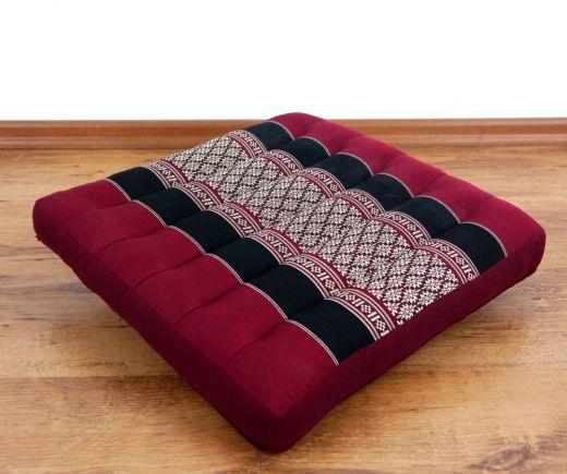 Sitzkissen, Stuhlkissen  *rot - schwarz*
