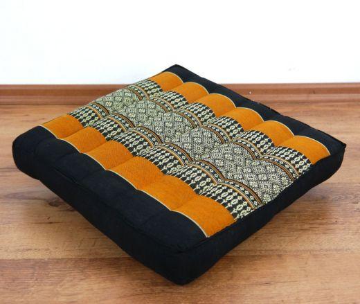 Sitzkissen, Stuhlkissen  *schwarz - orange*
