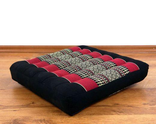 Sitzkissen, Stuhlkissen  *schwarz - rot*
