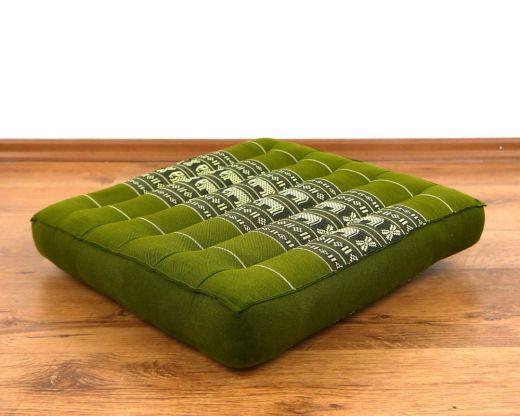 Sitzkissen, Stuhlkissen  *grün - Elefanten*