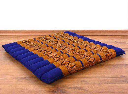 Steppkissen, Boden- bzw. Stuhlkissen *blau - gelb*