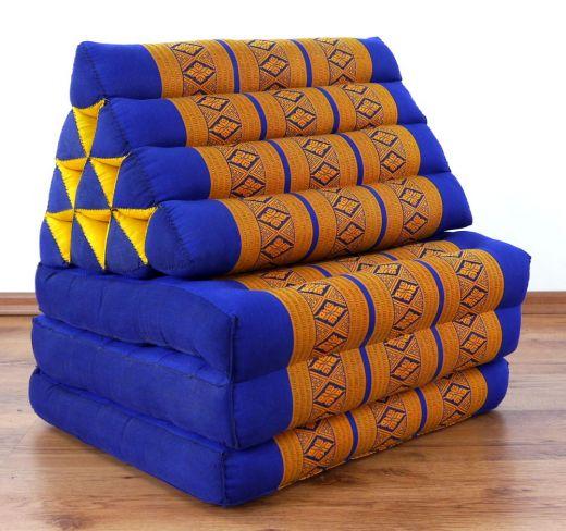 Thaikissen, Sitzkissen  *blau/gelb*