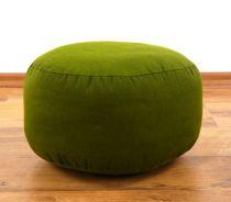 Einfarbiges Zafukissen, Sitzkissen  *grün*  klein