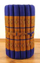 Kapok Rollmatte, Liegematte *blau - gelb* Gr. S