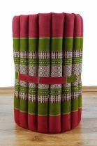 Kapok Rollmatte, Liegematte *rot - grün* Gr. S