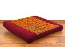 Sitzkissen, Bodenkissen *rot - gelb*
