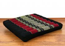 Sitzkissen, Bodenkissen *schwarz - rot*