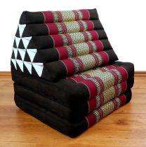 Thaikissen, XXL Dreieck  *schwarz / rot*