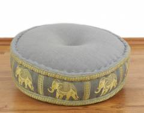Zafukissen, Meditationskissen  *grau - Elefanten*