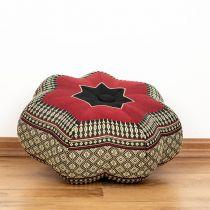 Kapok Zafukissen, kleiner Stern *schwarz - rot*