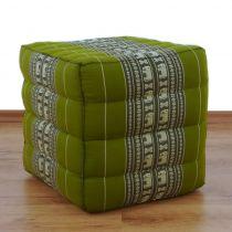Farbenfrohes Würfelkissen  *smaragtgrün / Elefanten*