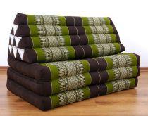 Jumbo Thaikissen, extrabreit  *braun / grün*