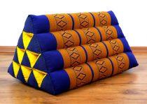 Kapok Dreieckskissen, Rückenlehne  *blau/gelb*
