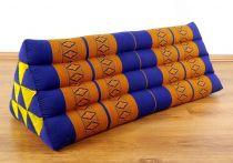 Kapok Dreieckskissen, Rückenlehne  *blau/gelb*   extrabreit
