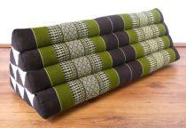 Kapok Dreieckskissen, Rückenlehne  *braun/smaragtgrün*   extrabreit