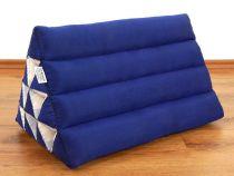 Kapok Dreieckskissen, Rückenlehne  *einfarbig blau*