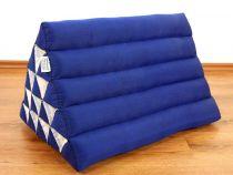 Kapok Dreieckskissen, Rückenlehne  *einfarbig blau*  extrahoch