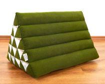 Kapok Dreieckskissen, Rückenlehne  *einfarbig grün*  extrahoch