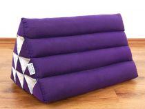 Kapok Dreieckskissen, Rückenlehne  *einfarbig lila*