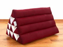 Kapok Dreieckskissen, Rückenlehne  *einfarbig rot*