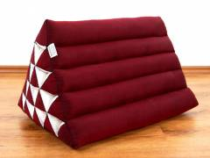 Kapok Dreieckskissen, Rückenlehne  *einfarbig rot*  extrahoch