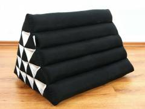 Kapok Dreieckskissen, Rückenlehne  *einfarbig schwarz*  extrahoch
