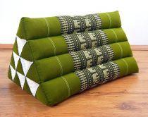 Kapok Dreieckskissen, Rückenlehne  *smaragtgrün/Elefanten*