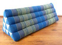 Kapok Dreieckskissen, Rückenlehne  *himmelblau*   extrabreit