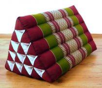 Kapok Dreieckskissen, Rückenlehne  *rot-smaragtgrün*  extrahoch