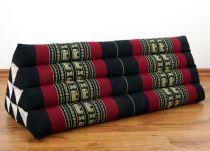Kapok Dreieckskissen, Rückenlehne  *schwarz/Elefanten*   extrabreit